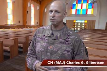 A virtual chapel service with Chaplain (Maj.) Charles Gilbertson