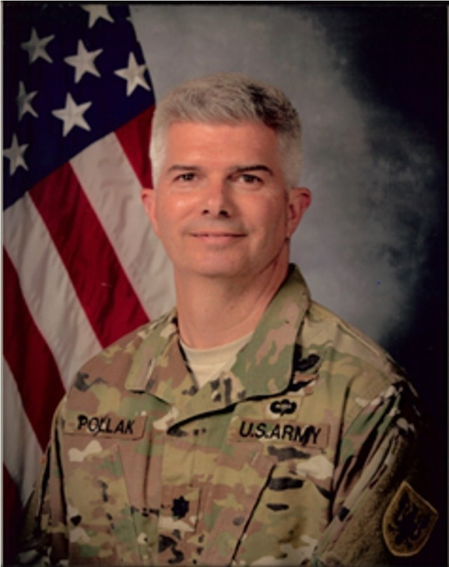 U.S. Army Reserve Lt. Col. Patrick L. Pollak, outgoing commander of 6th Battalion, 52nd Aviation Regiment (Theatre Fixed Wing Battalion), 11th Expeditionary Combat Aviation Brigade, relinquished command to Lt. Col. Bryan P. Klatt during a teleconference change of command ceremony, June 8, 2020.  COVID-19 restrictions limited attendance to immediate family, staff, and key personnel; however, the unique ceremony still allowed for proper acknowledgment of Pollak's career, while adapting to the changes brought upon by the coronavirus.