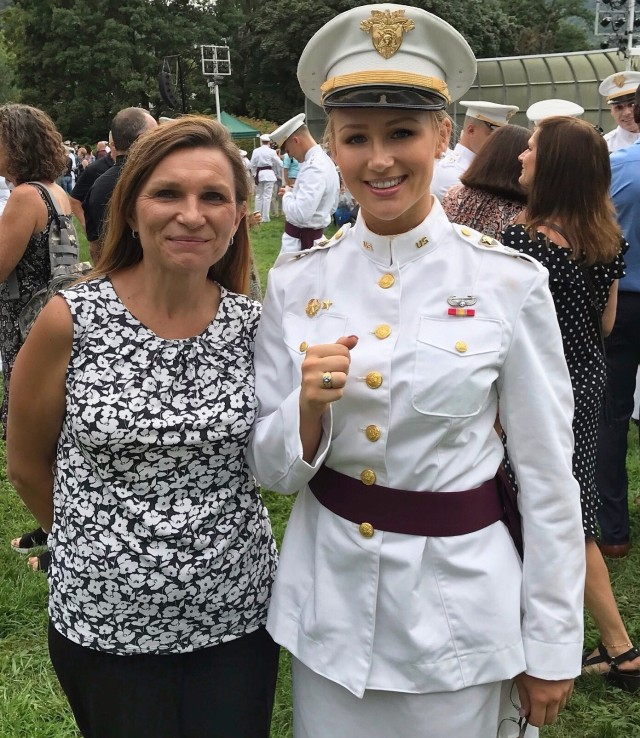 Class of 2020 Cadet Elizabeth Cross is one of four females in the class who were commissioned as infantry officers.