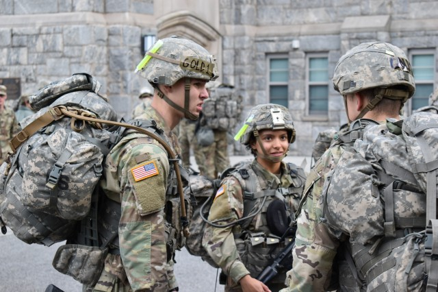 Class of 2023 Cadet Savannah Achenbach, above, entered West point set on joining the infantry upon graduation. To help prepare, she joined the Black and Gold Sandhurst team during her plebe year.