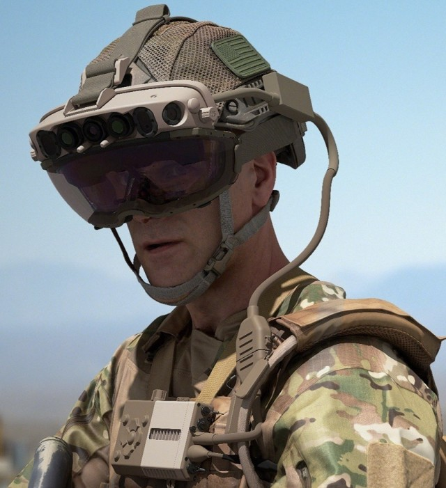 Capability Set 3 (CS 3) military form factor prototype of the Integrated Visual Augmentation System (IVAS) set to be tested at Soldier Touchpoint 3 (STP 3) in Fort Pickett, Va during October and November 2020.