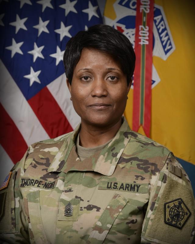 Command Sgt. Maj. Lynice Thorpe-Noel, Command Sergeant Major, U.S. Army Human Resources Command