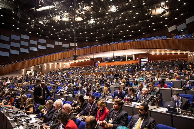 Member nations voted to add Novichok to the Organization for the Prohibition of Chemical Weapons list of banned substances during the 24th OPCW Conference of States Parties held at The Hague, the Netherlands, Nov. 25-29, 2019.
