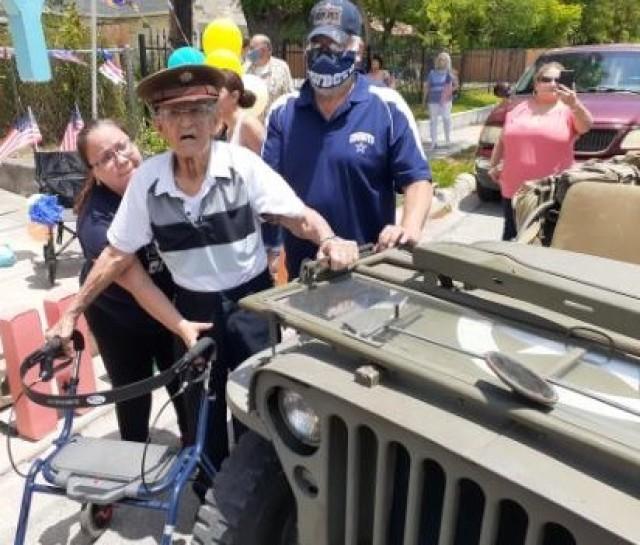 Veteran appreciates vintage jeep