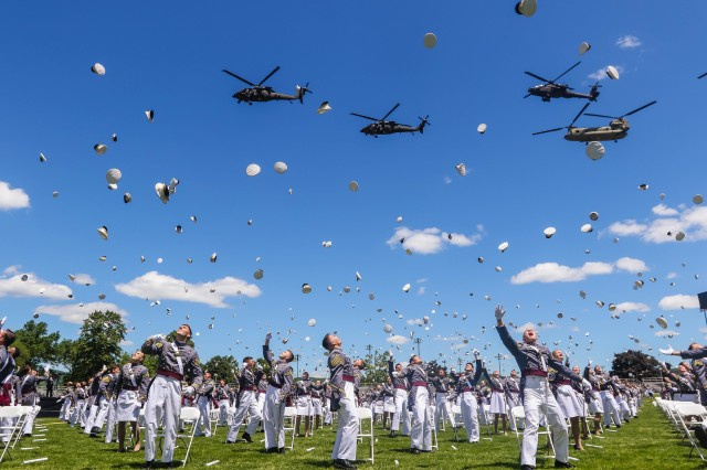 The U.S. Military Academy at West Point held its graduation and commissioning ceremony for the Class of 2020 on The Plain in West Point, N.Y., June 13, 2020. This year, 1,113 cadets graduated. In attendance were commencement speaker President Donald J. Trump, Secretary of the Army Ryan D. McCarthy and Chief of Staff of the Army Gen. James C. McConville.