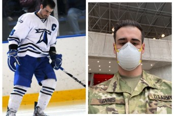 Childhood tumor leads hockey player to health care career, the Army and COVID-19 battle