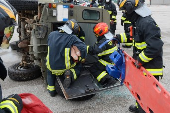 Garrison Fire and Emergency Services hold vehicle extrication drill