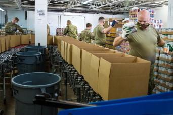 Michigan National Guard helps boost food bank distribution