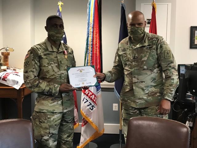 Retiring IG sergeant major receives Distinguished Service Medal
