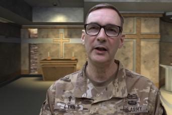 A virtual chapel service with Chaplain (Maj.) Paul Lynn