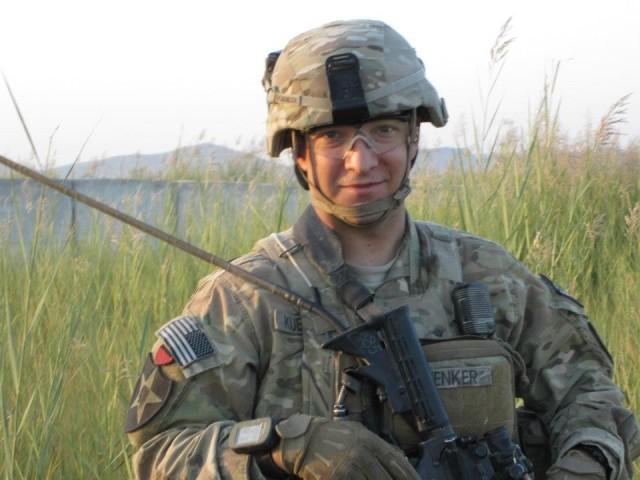 Then-2nd Lt. Samuel Kuenker as a platoon leader on patrol in Zaharay, Afghanistan, in September 2012.