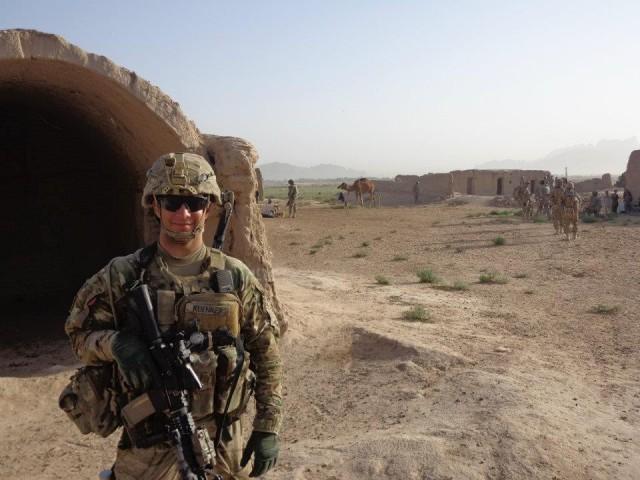 Then 2nd Lt. Samuel Kuenker as a platoon leader on patrol in Zaharay, Afghanistan, in September 2012.