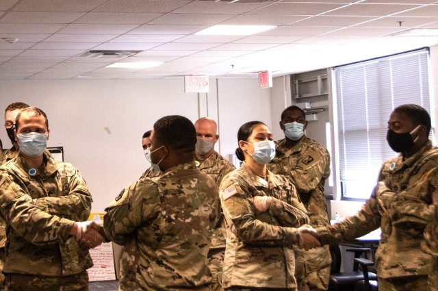 Soldiers participate in equal opportunity training at Fort Eustis, Virginia, June 23, 2020. The 60-hour course is designed to prepare Soldiers to be equal opportunity advisers in their respective units. (U.S. Army photo by David Overson)