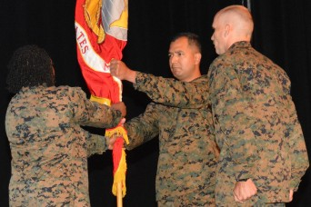 LTC Julian Tsukano takes charge of Marine Detachment at Fort Lee