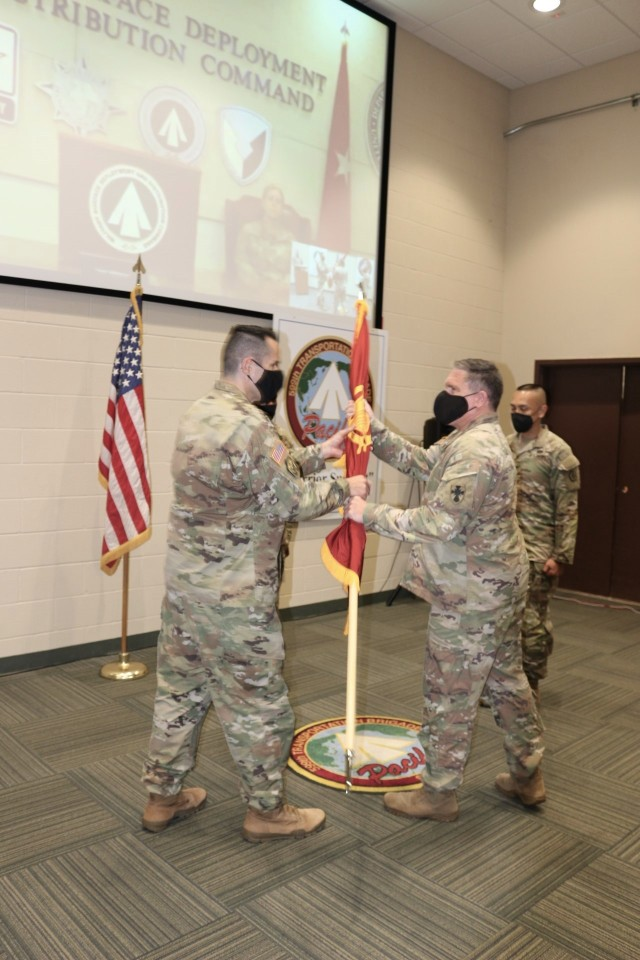 Hilberg takes command of 599th Transportation Brigade