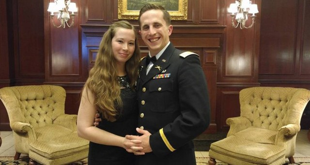 Capt. Jacob Henry an his wife Jenna at a St. Barbara's Day Ball.