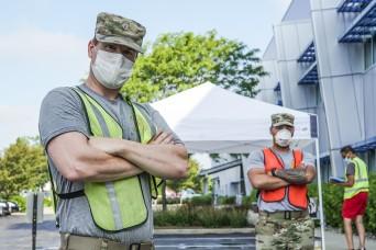 Ohio Guard members build bridges with language at food bank