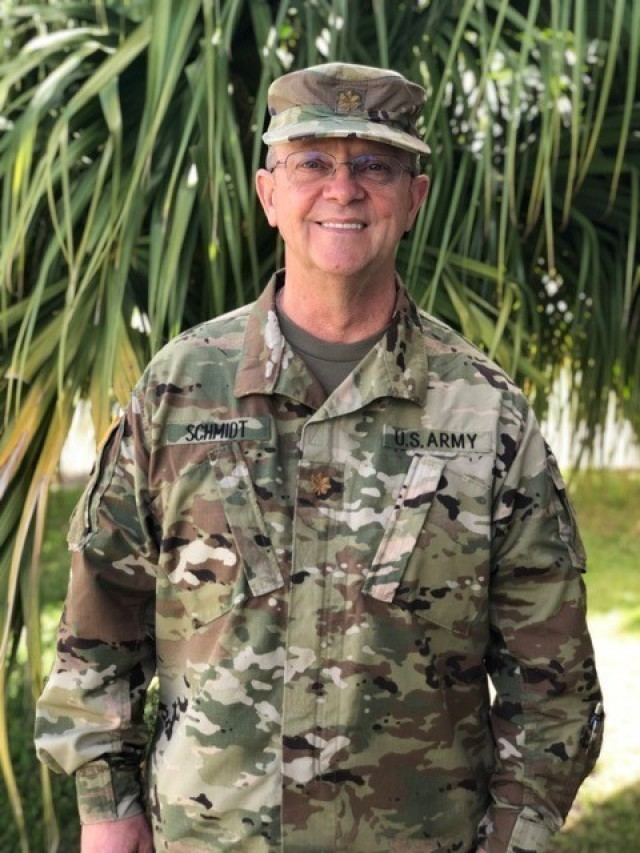 Maj. James F. Schmidt, a Certified Nurse Anesthetist, was one of six nurses assigned to the 1984th U.S. Army Hospital – Pacific, 9th Mission Support Command, that deployed to the Commonwealth of the Northern Mariana Islands to provide medical expertise in support of COVID-19 response efforts.