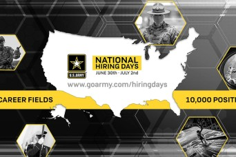 U.S. Army aims to hire 10,000 new Soldiers during three-day event