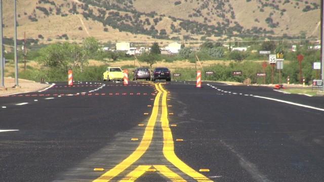 Pavement improvement project at Fort Huachuca, Arizona.