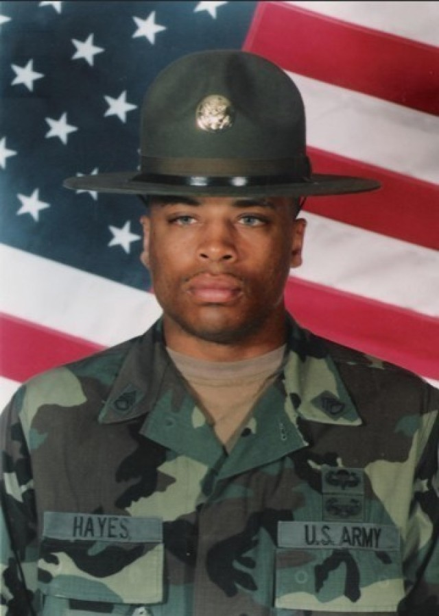Command Sgt. Maj. Ronrico Hayes pictured from when he served as a Drill Sergeant with the 82nd Chemical Battalion in Fort Leonard Wood, Missouri. Throughout his career, Hayes said he's enjoyed watching the people around him grow and change for the better, considering himself a servant leader who was always willing to provide a listening ear and thoughtful advice.