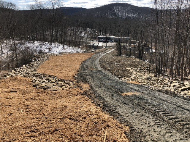 The construction of a new cellphone tower and access road between the U.S. Military Academy's Camp Buckner and Camp Natural Bridge along Route 293 was the result of a multi-year collaborative effort among West Point, the Army Corps of Engineers and Verizon Wireless to improve cell reception in the area.