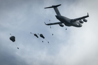 Army airborne task force descends onto Guam