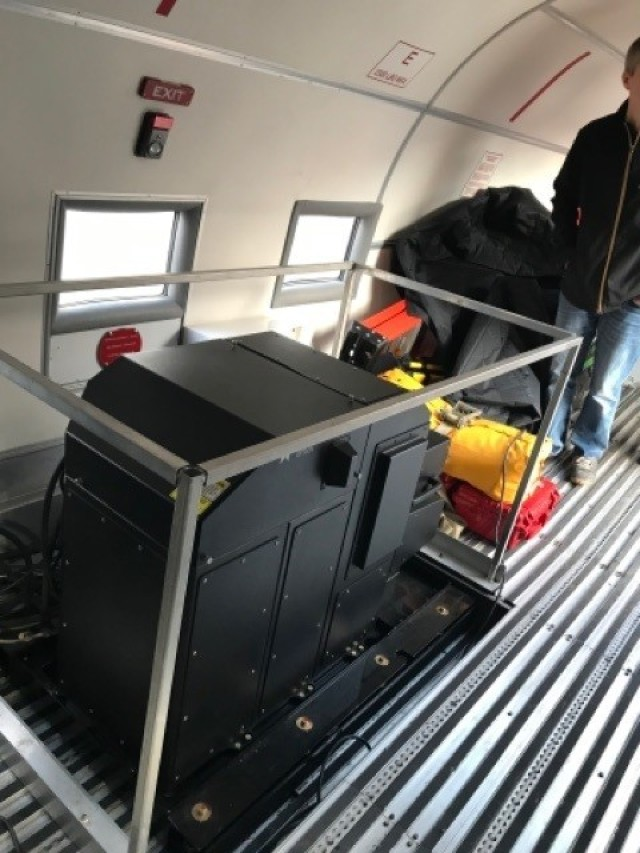 The remote sensing platforms inside the JALBTCX aircraft.