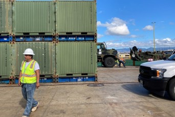 599th Trans. Bde., partners load out Hawaii Marines for PTA