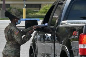 La. Guard assists at new Baton Rouge COVID-19 testing sites