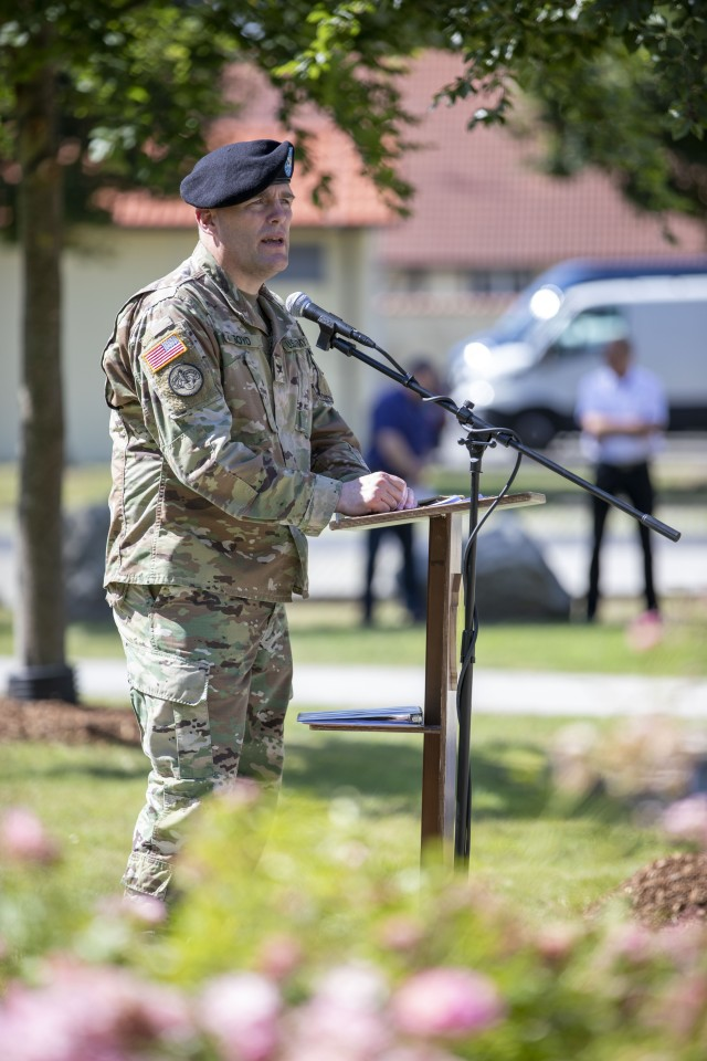 Outgoing Col. Adam Boyd of USAG Bavaria