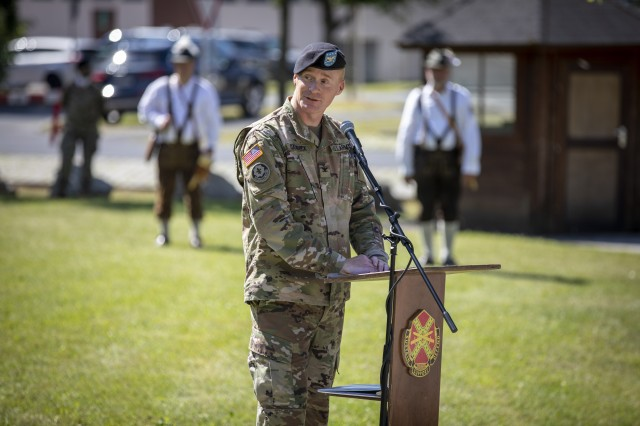 Incoming commander Col. Christopher Danbeck of USAG Bavaria