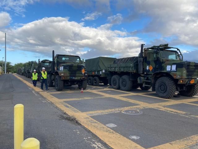 599th Trans. Bde., Navy, Coast Guard, contractor partners ship USMC ammo to PTA