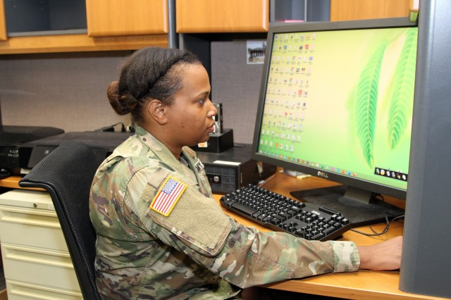 Staff Sgt. Yadira Jones is a Military Intelligence Analyst (Military Occupational Specialty 35F) and G2 (Intelligence) Senior Enlisted Advisor for the Army Network Enterprise Technology Command (NETCOM). Jones is scheduled to direct comission as a second lieutenant in the Army Medical Department in August 2020. (U.S. Army photo)