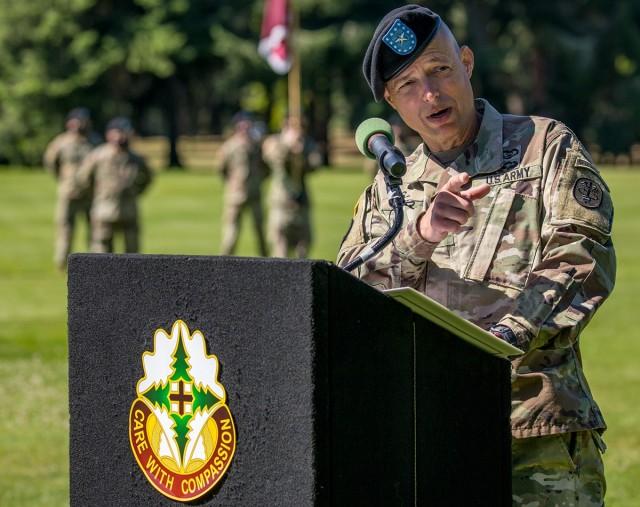 Brig. Gen.  Davis speaks