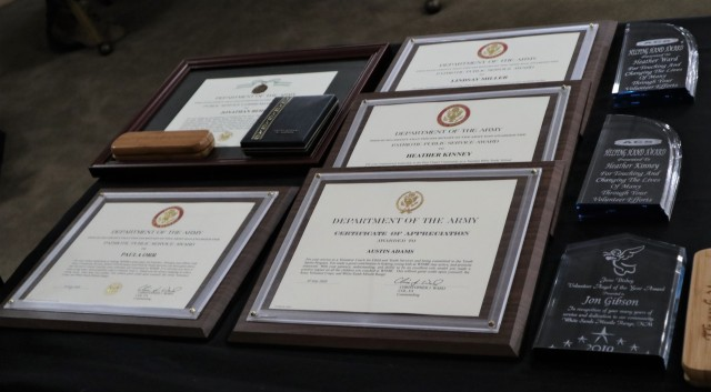 White Sands Missile Range Volunteer Appreciation Luncheon awards that were given out on July 7, 2020.