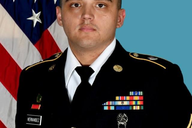 Cpl. Jackie Hernandez, military police officer, Corpus Christi Army Depot, Texas.