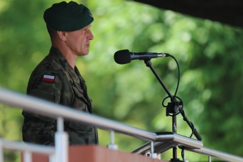 eFP Battle Group Poland holds transfer of authority ceremony