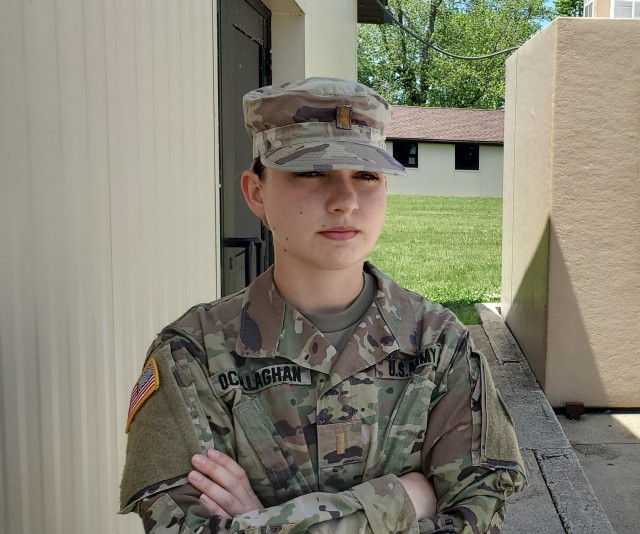 Ohio's 1st female infantry officer on COVID-19 front lines