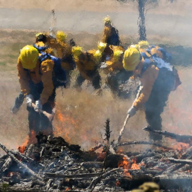 Oregon National Guard members train to battle wildland fires