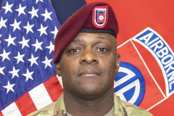 Command Sgt. Maj. David R. Pitt, 82nd Airborne Division Command Sergeant Major