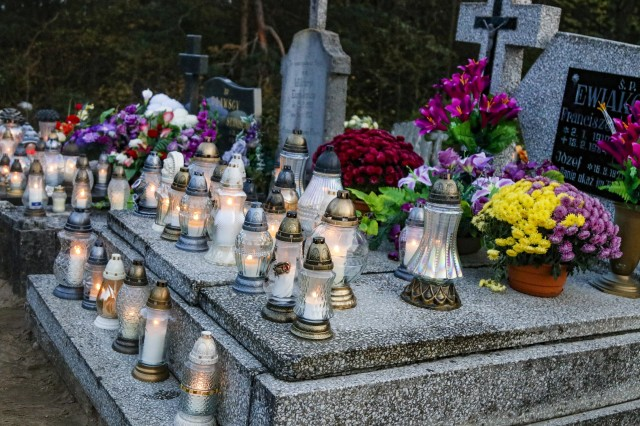 One of the Polish holidays the Soldiers of the 652nd Regional Support Group were able to experience was All Saints Day November 1, 2019. On this holiday, people remember deceased friends and family and place lanterns on their graves, as seen in this photo taken at Powidz Cemetery in Powidz, Poland. (U.S. Army Reserve photo by Master Sgt. Ryan C. Matson, 652nd Regional Support Group)