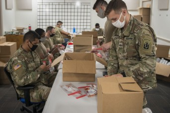 Connecticut Guard assembles 107,000 test kits in five days