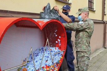 eFP Battle Group Poland donates bottle caps for humanitarian cause