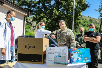 KFOR RC-E Soldiers deliver medical equipment to Zvecan clinic