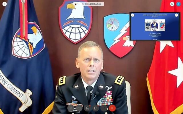 SMDC leader gives command update during virtual symposium