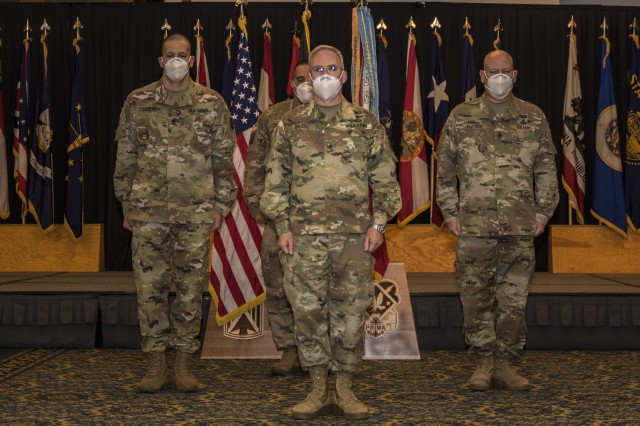 10th Army Air and Missile Defense Command conducts a change of responsibility ceremony on Aug. 6, 2020. at Ramstein Air Base, Germany.