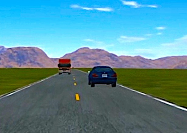 Army researchers use automated driving simulations to study human emotions and trust. (U.S. Army)