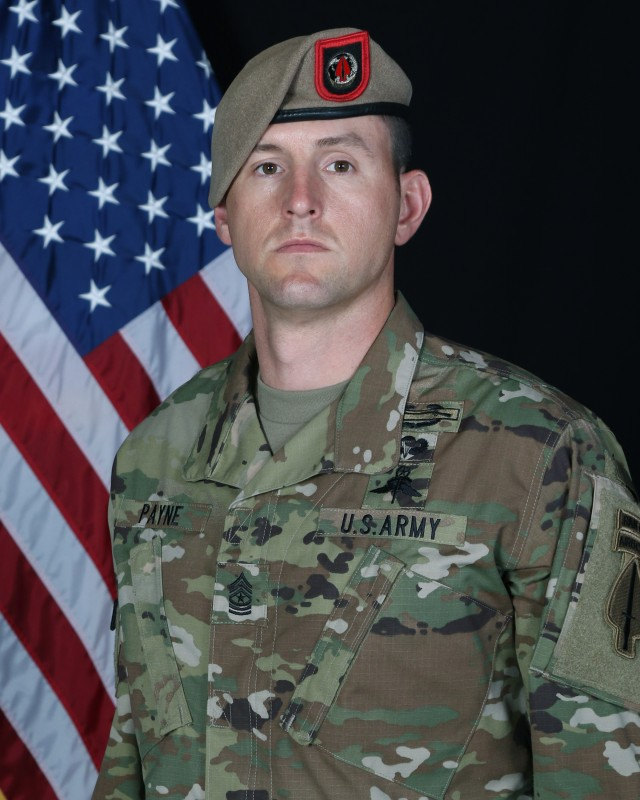 """Sgt. Maj. Thomas """"Patrick"""" Payne, an Army Ranger assigned to the U.S. Army Special Operations Command, will receive the Medal of Honor after he risked his life to save dozens of hostages facing imminent execution by ISIS fighters in northern Iraq in 2015."""