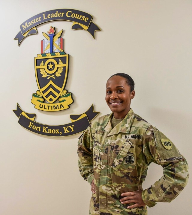Master Sgt. Ericka M. Tew is an instructor for the 83rd U.S. Army Reserve Readiness Training Center, located at Fort Knox, Kentucky. Tew won the 2020 Army Reserve Instructor of the Year Award. (Courtesy photo)